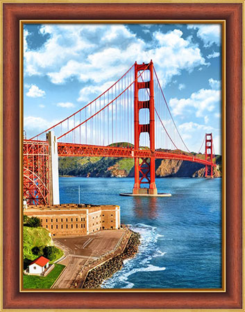 Malen nach Zahlen Bild Golden Gate Bridge - AZ-1833 von Artibalta