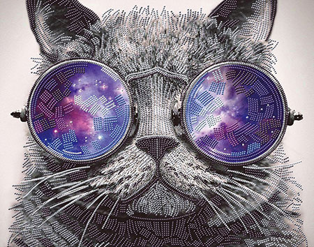 Malen nach Zahlen Bild Katze mit trendiger Sonnenbrille - AZ-3003 von Artibalta