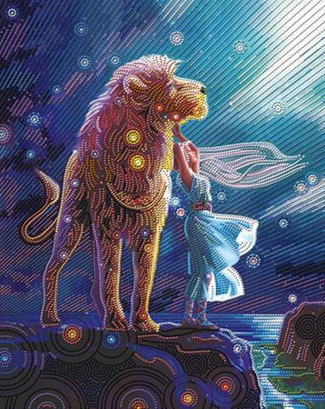 Malen nach Zahlen Bild Tanz mit dem Löwen - AZ-3020 von Artibalta