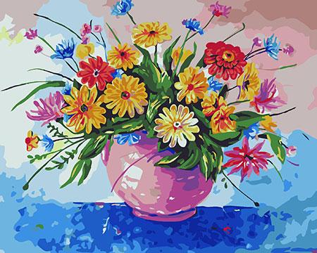 Malen nach Zahlen Bild Wiesenblumen - B043 von Sonstiger Hersteller