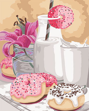 Malen nach Zahlen Bild Süßes Frühstück - B056 von Sonstiger Hersteller