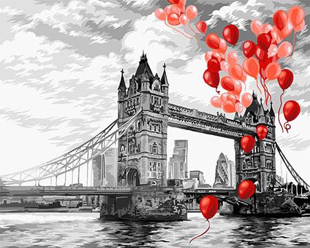 Malen nach Zahlen Bild Tower Bridge - C037 von Artibalta
