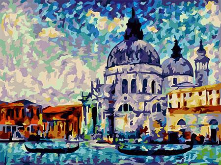 Malen nach Zahlen Bild Farbenfrohes Venedig - C040 von Artibalta