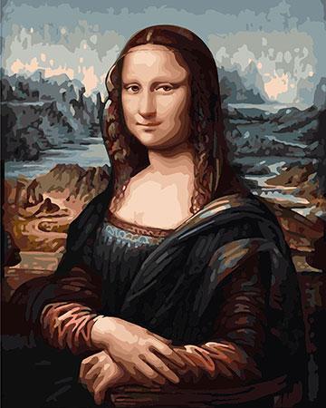 Malen nach Zahlen Bild Mona Lisa - G014 von Sonstiger Hersteller