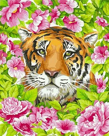 Malen nach Zahlen Bild Romantischer Tiger - H099 von Sonstiger Hersteller