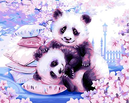 Malen nach Zahlen Bild Pandababies  - H107 von Artibalta