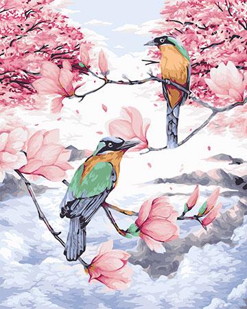 Malen nach Zahlen Bild Vögel im Paradies - H109 von Sonstiger Hersteller