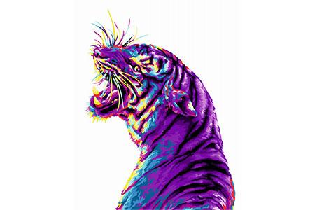 Malen nach Zahlen Bild Pop Art Tiger  - H136 von Artibalta