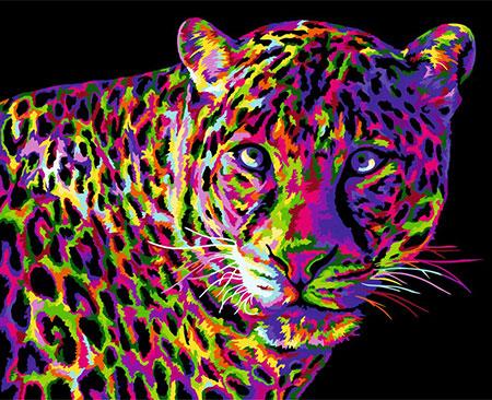 Malen nach Zahlen Bild Pop Art Leopard  - H141 von Artibalta