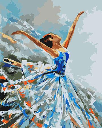 Malen nach Zahlen Bild Ballerina - J001 von Sonstiger Hersteller