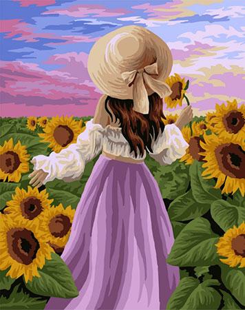 Malen nach Zahlen Bild Folg mir ins  Sonnenblumenfeld  - J043 von Artibalta