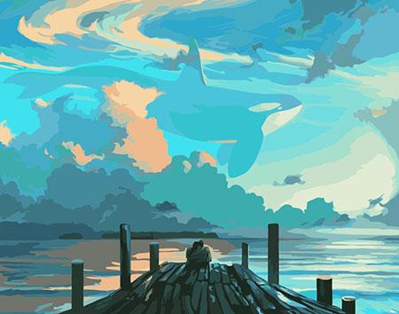 Malen nach Zahlen Bild Wolkenbilder  - K003 von Artibalta