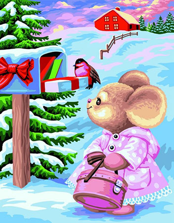Malen nach Zahlen Bild Weihnachtspost  - L020 von Artibalta