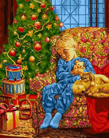 Malen nach Zahlen Bild Warten auf den Weihnachtsmann   - L021 von Artibalta