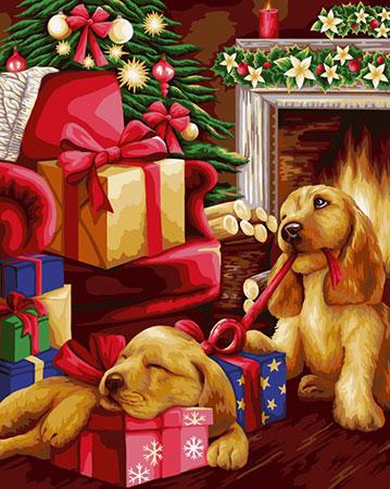 Malen nach Zahlen Bild Weihnachtsbescherung  - L025 von Artibalta