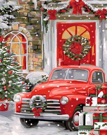Malen nach Zahlen Bild Weihnachtsbesuch  - L039 von Artibalta