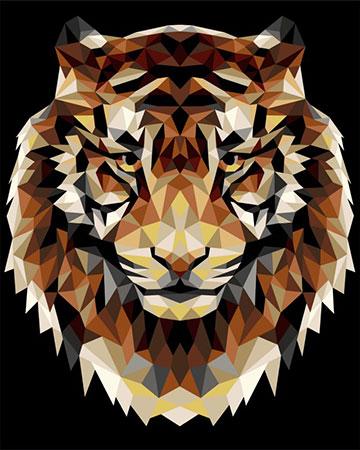 Malen nach Zahlen Bild Polygon Tiger  - P001 von Artibalta