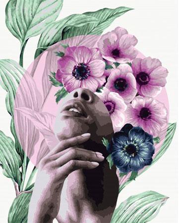 Malen nach Zahlen Bild Blumenportrait Reihe - Winter  - R015 von Artibalta
