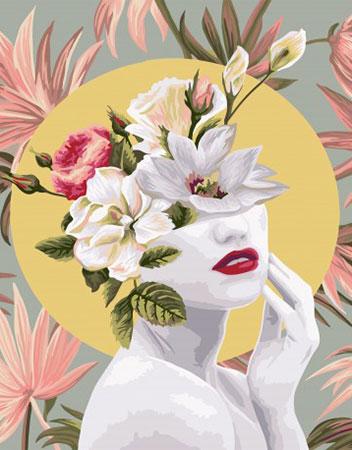 Malen nach Zahlen Bild Blumenportrait Reihe - Frühling - R016 von Artibalta