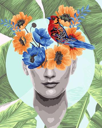 Malen nach Zahlen Bild Blumenportrait Reihe- Sommer  - R017 von Artibalta