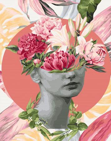 Malen nach Zahlen Bild Blumenportrait Reihe - Herbst  - R018 von Artibalta
