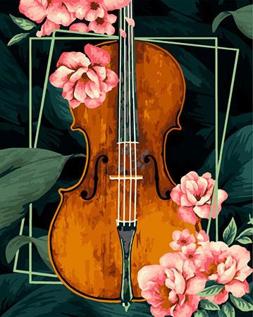 Malen nach Zahlen Bild Vintage Violine  - R020 von Artibalta
