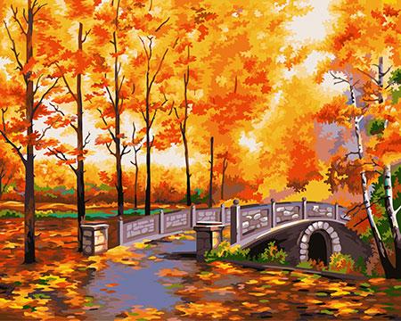Malen nach Zahlen Bild Herbstlicher Park - S014 von Sonstiger Hersteller