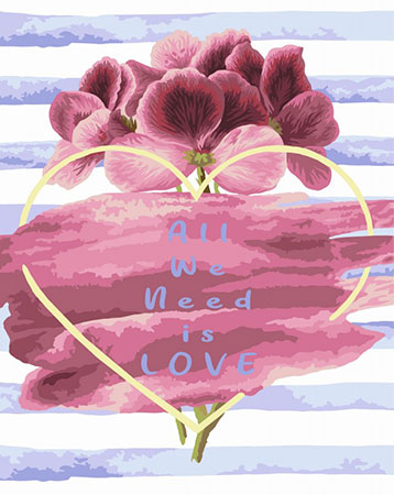 Malen nach Zahlen Bild All We Need Is LOVE - T009 von Artibalta