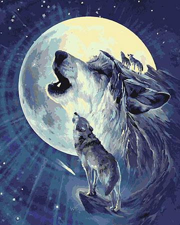 Einsames Wolfsgeheul