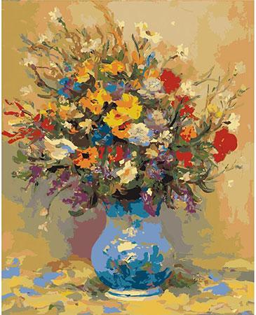Vase mit Feldblumen