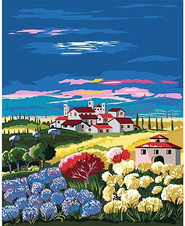 Feld voller Hortensien