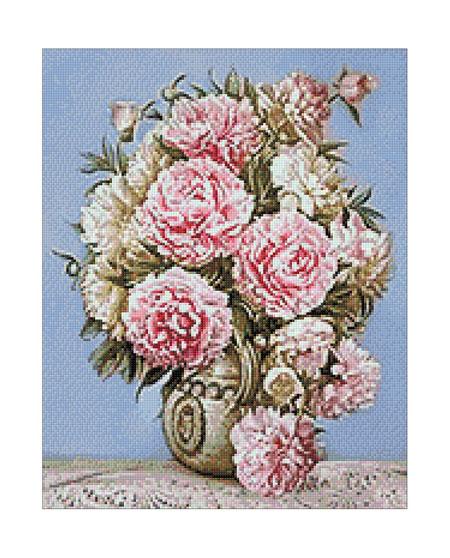 Malen nach Zahlen Bild Rosa Blumentraum - WD001 von Sonstiger Hersteller