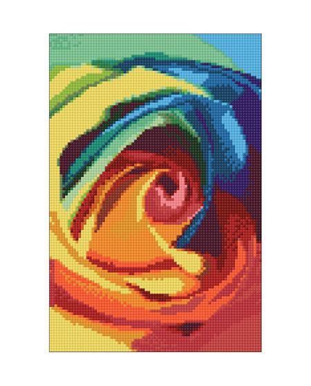 Malen nach Zahlen Bild Rosige Farbenpracht - WD023 von Sonstiger Hersteller