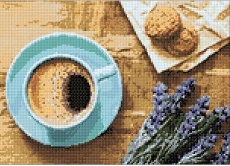 Malen nach Zahlen Bild Entspanntes Frühstück - WD041 von Sonstiger Hersteller