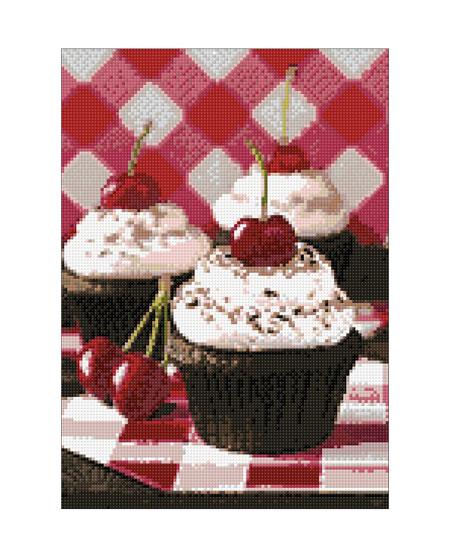 Malen nach Zahlen Bild Kirschige Süßigkeit - WD043 von Sonstiger Hersteller