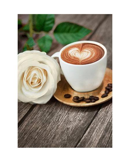 Malen nach Zahlen Bild Kaffee mit Rose - WD045 von Sonstiger Hersteller