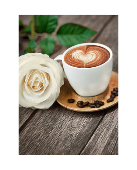 Kaffee mit Rose