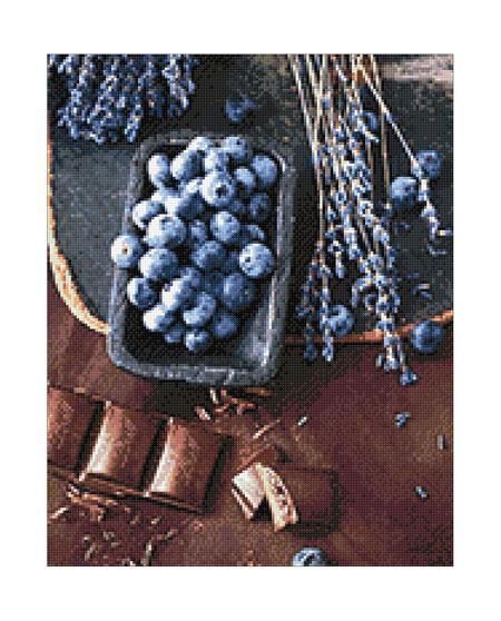 Malen nach Zahlen Bild Blaubeerschokolade - WD046 von Sonstiger Hersteller