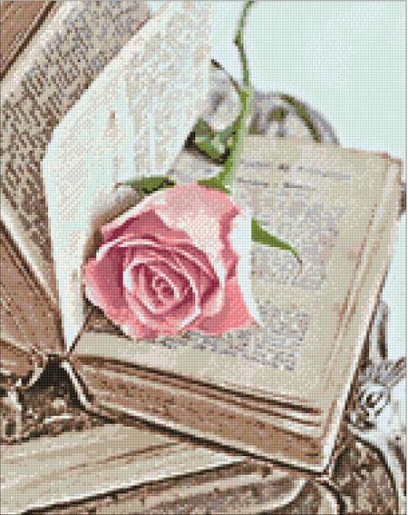 Malen nach Zahlen Bild Romantisches Buch - WD052 von Sonstiger Hersteller