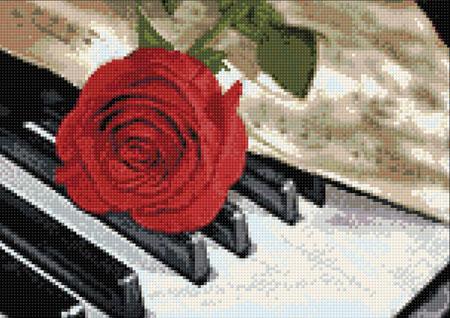 Malen nach Zahlen Bild Blumige Musik - WD053 von Sonstiger Hersteller