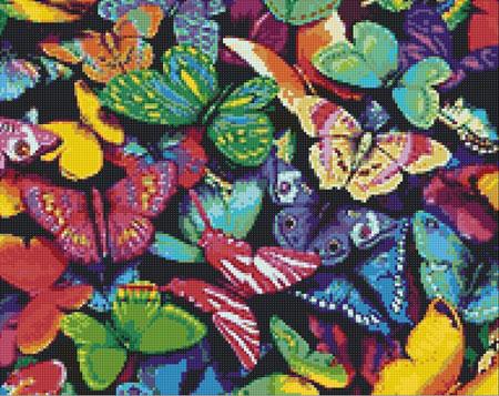 Malen nach Zahlen Bild Bunte Schmetterlinge - WD057 von Sonstiger Hersteller