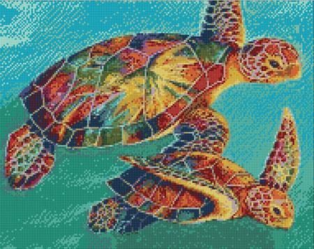 Malen nach Zahlen Bild Bunte Schildkröten - WD064 von Sonstiger Hersteller