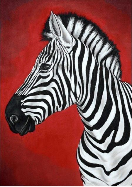 Malen nach Zahlen Bild Zebra - WD080 von Sonstiger Hersteller