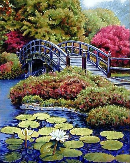 Malen nach Zahlen Bild Japanischer Garten - WD096 von Sonstiger Hersteller