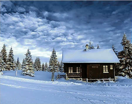 Malen nach Zahlen Bild Verschneite Berge - WD106 von Sonstiger Hersteller