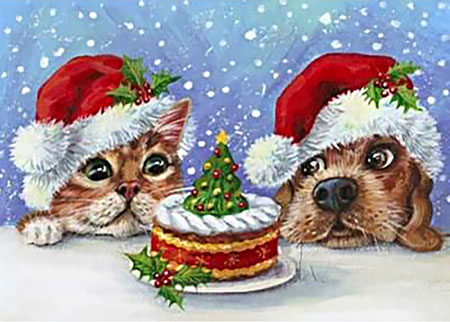 Malen nach Zahlen Bild Leckere Weihnachtsüberraschung - WD111 von Artibalta