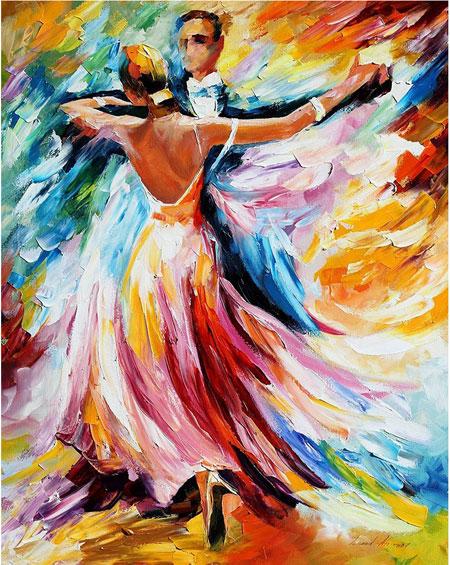 Malen nach Zahlen Bild Tanz der Farben - WD117 von Sonstiger Hersteller