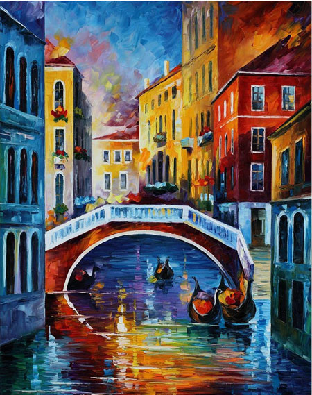 Malen nach Zahlen Bild Die Farben Venedigs - WD119 von Sonstiger Hersteller