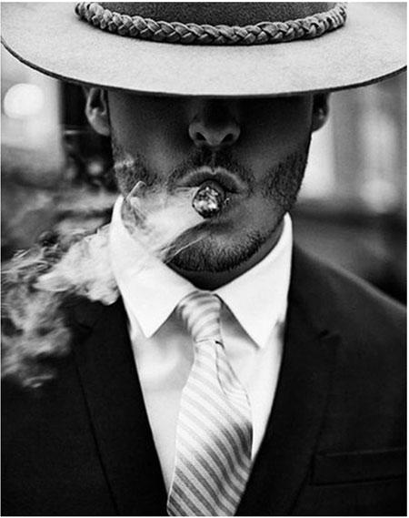 Malen nach Zahlen Bild Der rauchende Mann - WD134 von Sonstiger Hersteller