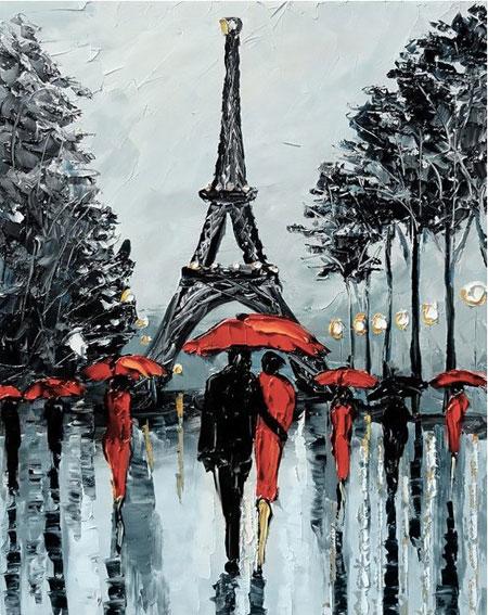 Malen nach Zahlen Bild Regen in Paris - WD156 von Sonstiger Hersteller
